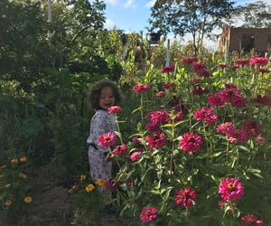 baby, flowers, and nature image