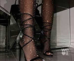 beauty, black heels, and fashion image