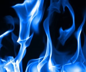 fire, blue, and Darkness image