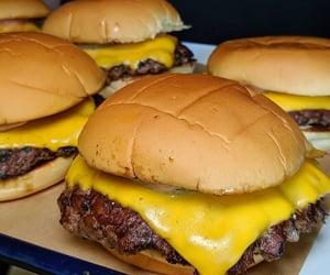 cheese, fast food, and cheeseburger image