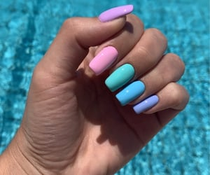 nails, manicure, and summer image