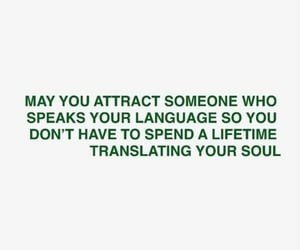 attraction, green, and quote image