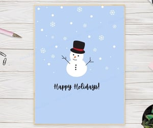 etsy, festive christmas, and winter greeting card image