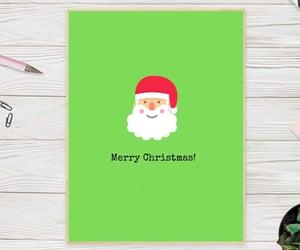 etsy, santa christmas card, and festive christmas image