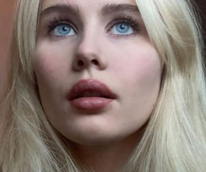 angel, blonde hair, and blue eyes image
