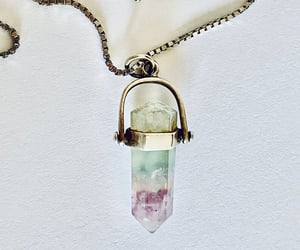 crystal necklace, crystal pendant, and articulated pendant image