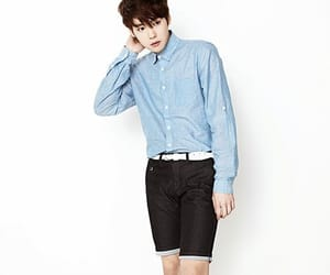 cute boy, shorts, and top button done up image