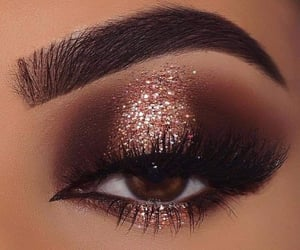 brown, cafe, and eyeliner image