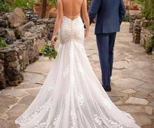wedding dress, selinadress, and lace wedding dress image
