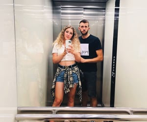 blonde, guess, and couple image