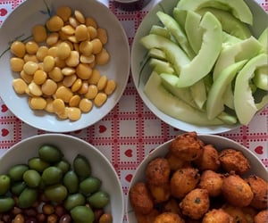 cheese, food, and olives image