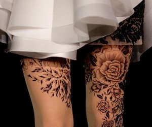 tights, fashion, and floral image
