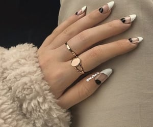 french nails&rings image