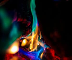 blue, flame, and green image