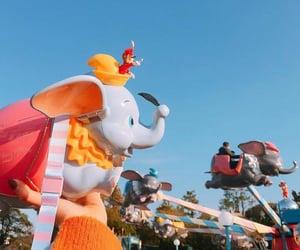childhood, dumbo, and elephant image