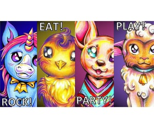 cute animals, parody, and character art image