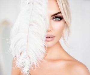 barbie, feathers, and beauty image