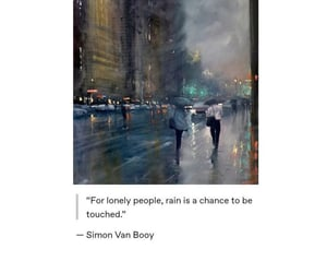 lovely, quotes, and rain image