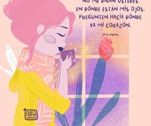 feliz, frases español, and mirada image