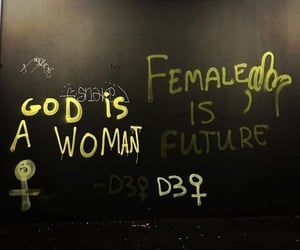 aesthetic, feminist, and god is a woman image