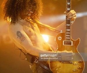 band, hair, and guitar image