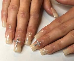 nail art, nails, and religious image