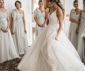 fashion, rustic wedding dress, and wedding dress image