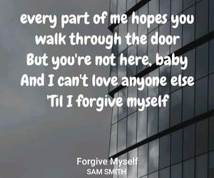 music and lyrics, sam smith, and forgive myself image