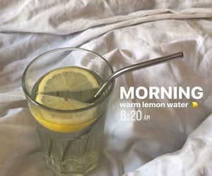 aesthetic, healthy, and lemon water image