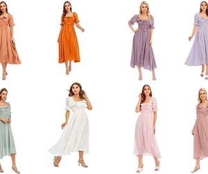 dress, fashion, and square neck image