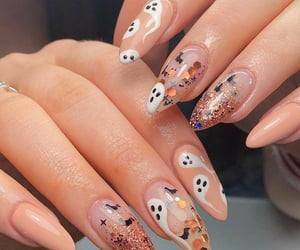 autumn, nails, and design image