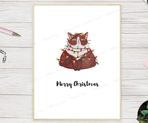 etsy, cat christmas card, and winter greeting card image