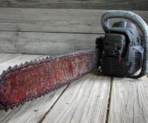 chainsaw, horror movie, and props image