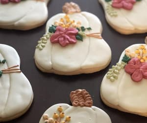 Cookies, decorated, and floral image