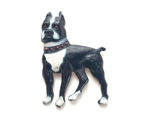 etsy, art deco jewelry, and french bulldog image