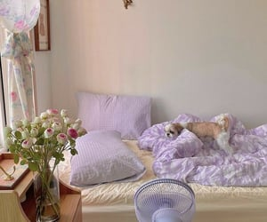 bedroom, lavender, and lilac image