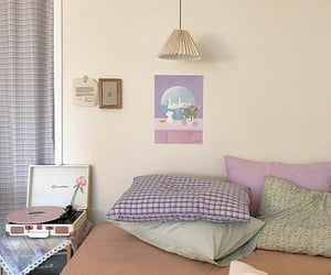 aesthetic, bedroom, and color image