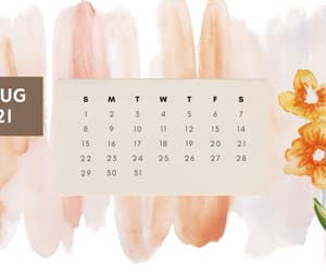 desktop, calendar, and wallpaper image