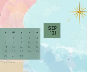calendar, fall, and wallpaper image