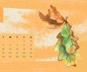 calendar, fall, and october image