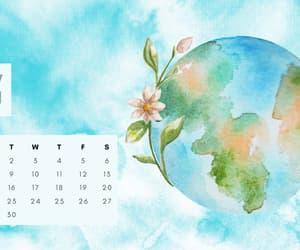 desktop, winter, and calendar image