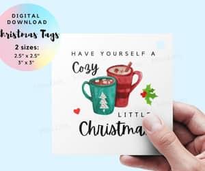 merry christmas card, christmas wrap, and christmas gift wrap image