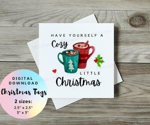 etsy, christmas gift tag, and christmas printable image