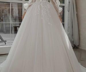 bride, groom, and pretty dress image