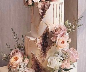 bride, rose gold, and bridesmaids image