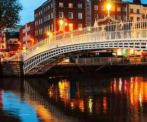 bridge, lights, and romantic image