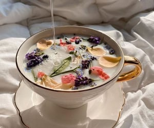 aesthetic, flowers, and tea image