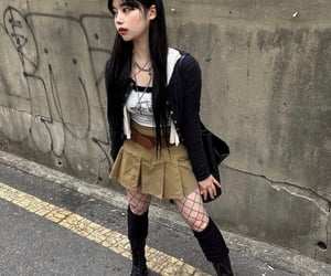 asian, black, and clothes image