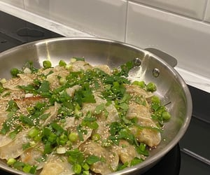 cooking, delicious, and dumplings image