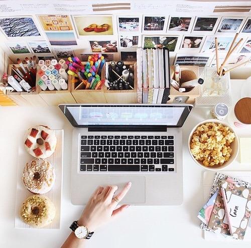Imagem de food, study, and desk